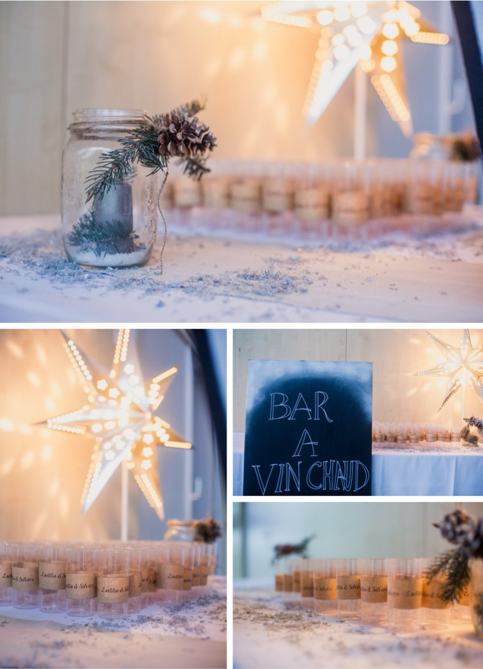 Décoration de mariage hivernal