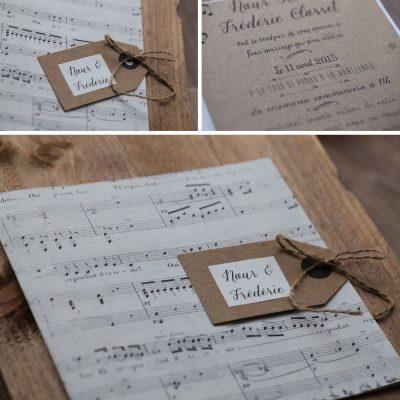 Faire part de mariage partition de musique