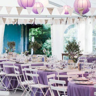 Mariage provençal lin et parme