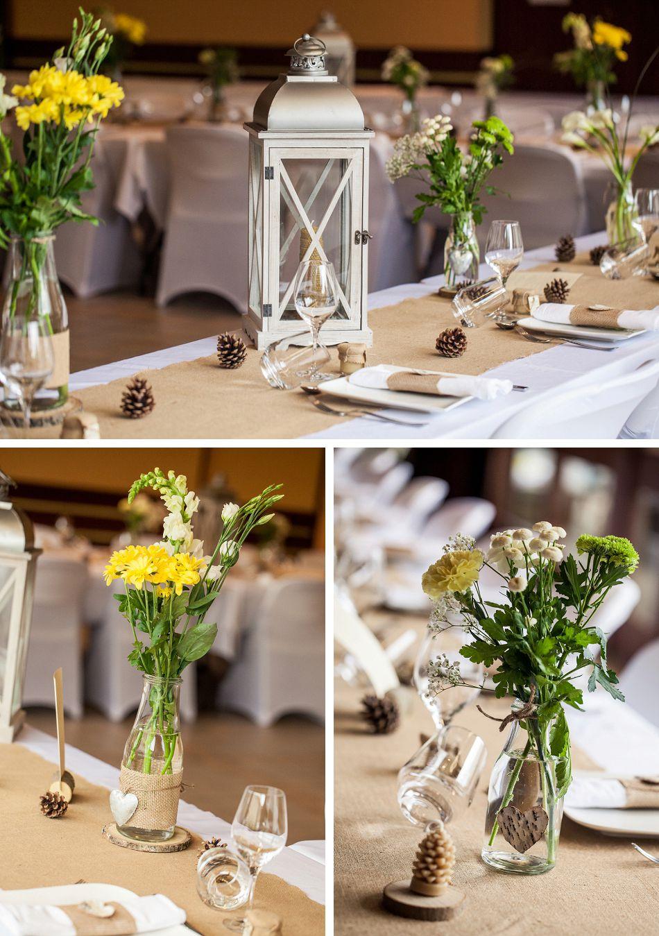 Décoration de mariage rustique champêtre en Savoie
