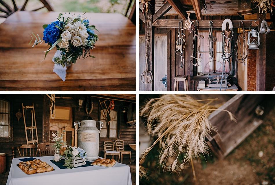 un mariage liberty et bleu dans un ranch en Alsace Lorraine