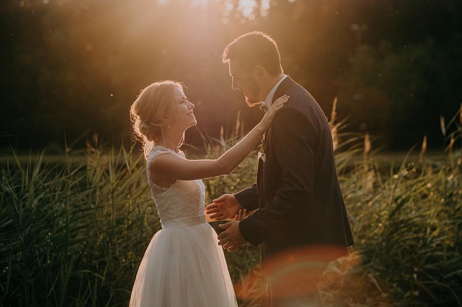 un mariage liberty et bleu dans un étang en Alsace Lorraine
