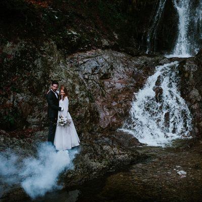 Un elopement minéral au coeur des Vosges Lac de Kruth, Alsace