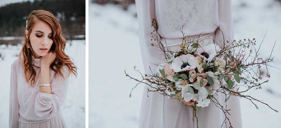 mariage elopement mineral et hivernal