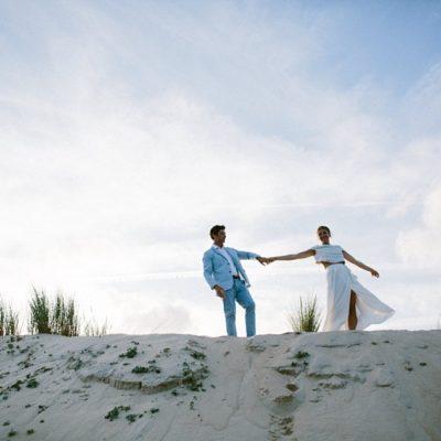 Un mariage boho à la maison sur les côtes landaises