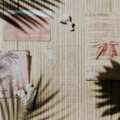 Faire-part de mariage bohème et tropical