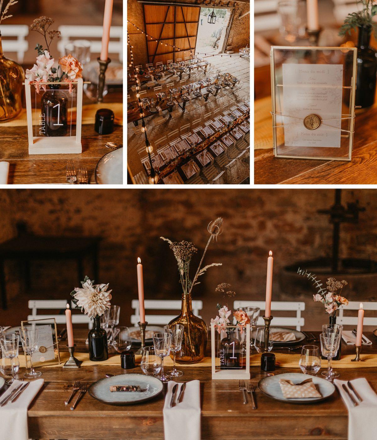 décoration de mariage champêtre grange alsace