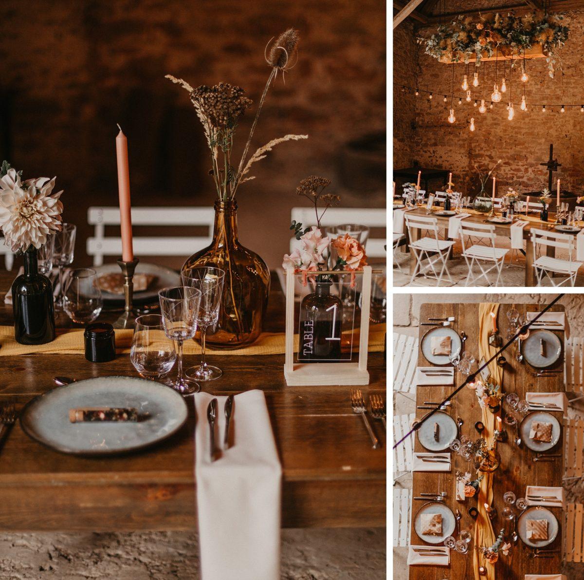 décoration de mariage champetre grange alsace
