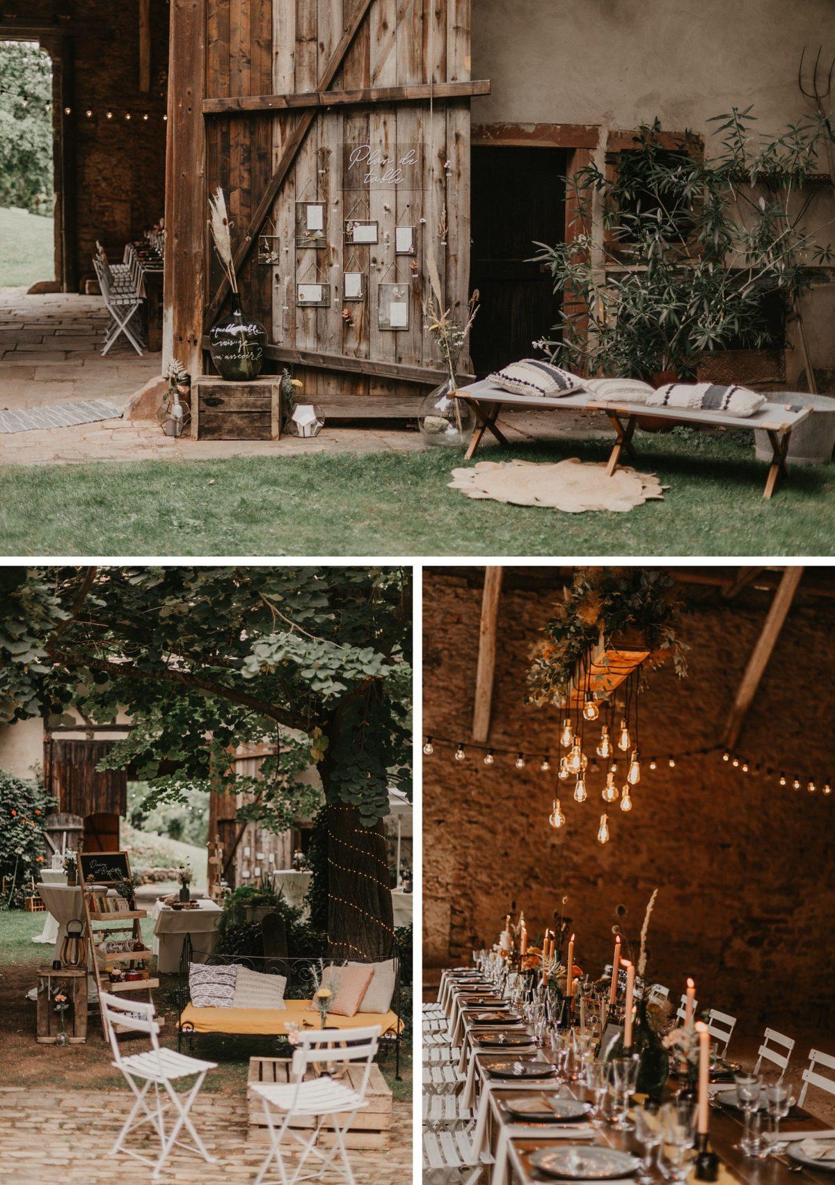 plan de table mariage bohème champetre alsace