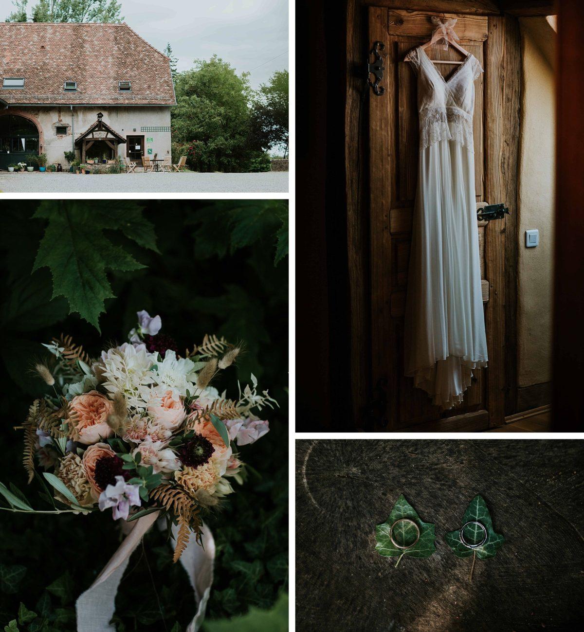 mariage bohème chic/folk au domaine de saint loup en Alsace