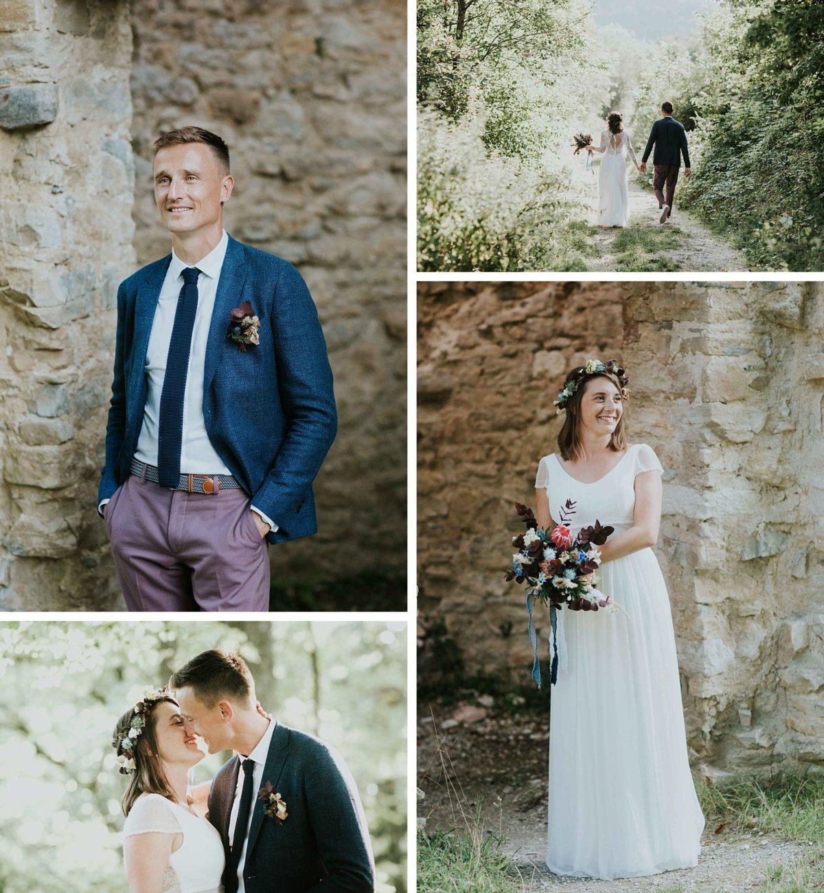 mariage folk jeans au morimont cérémonie laique