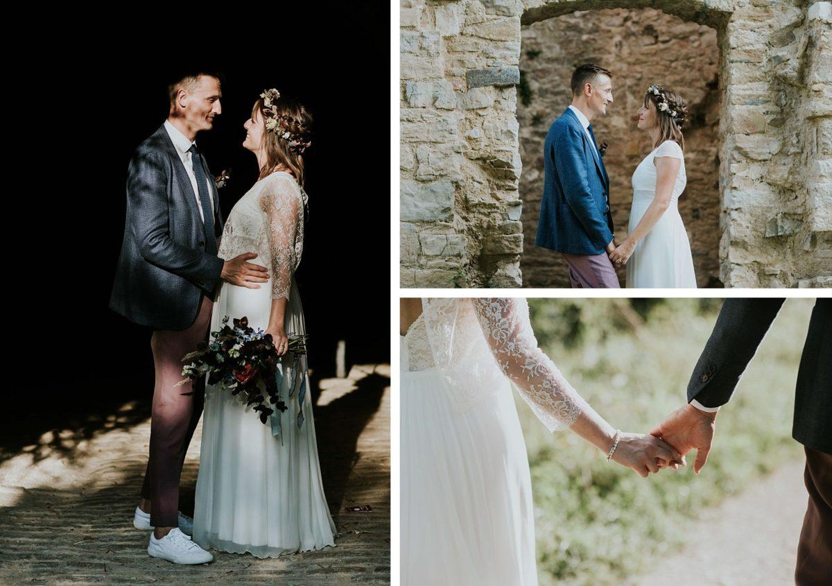 mariage folk jeans au morimont couple