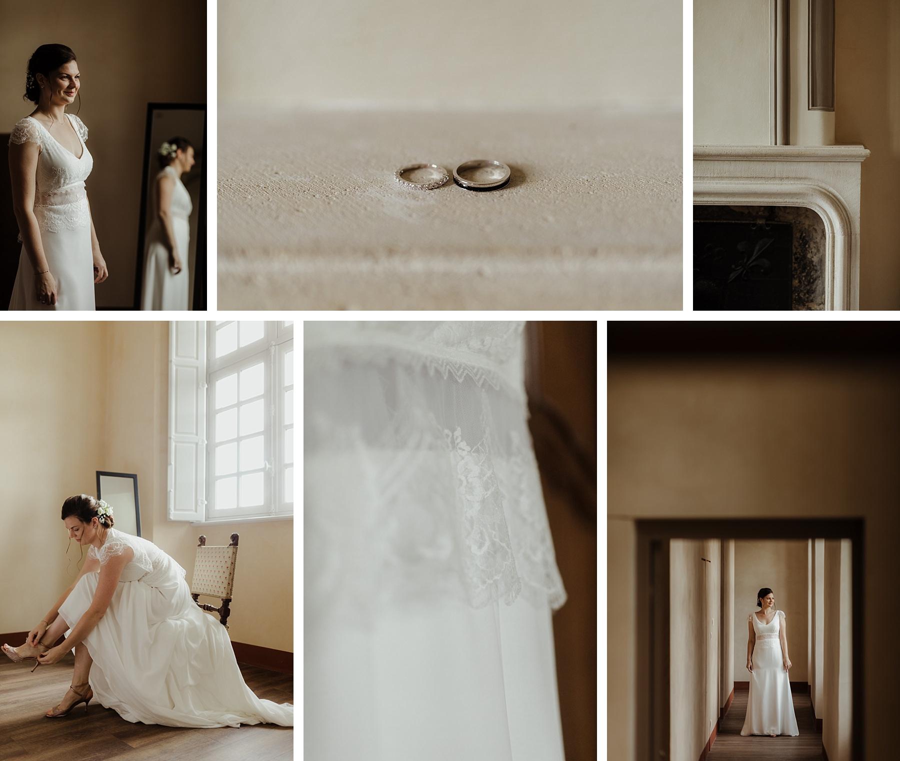 mariage brique au clos de Lorraine mariés
