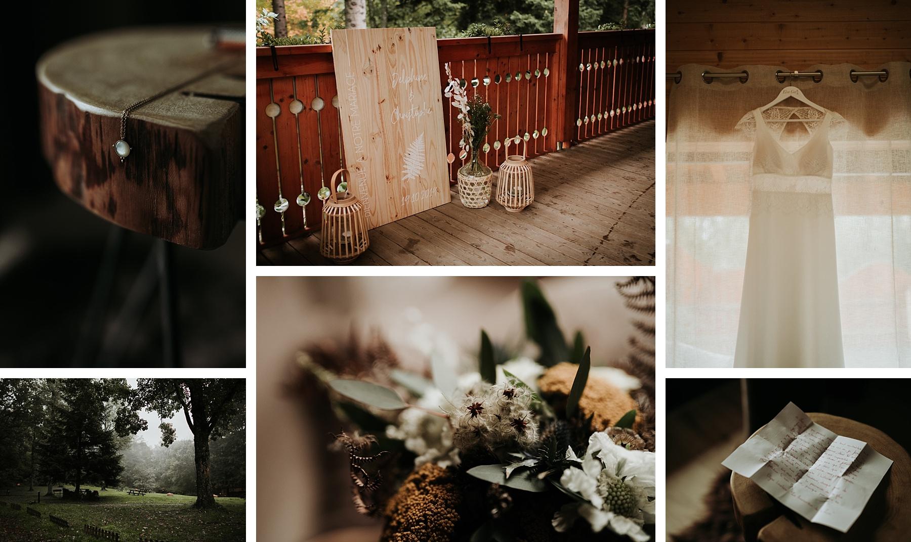 mariage automnal domaine du hirtz mariée