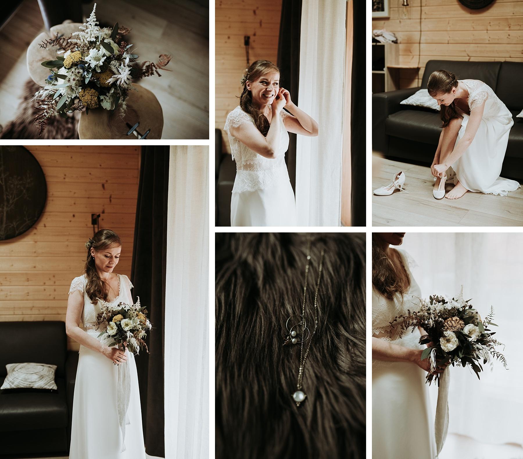mariage automnal domaine du hirtz robe Elsa Gary