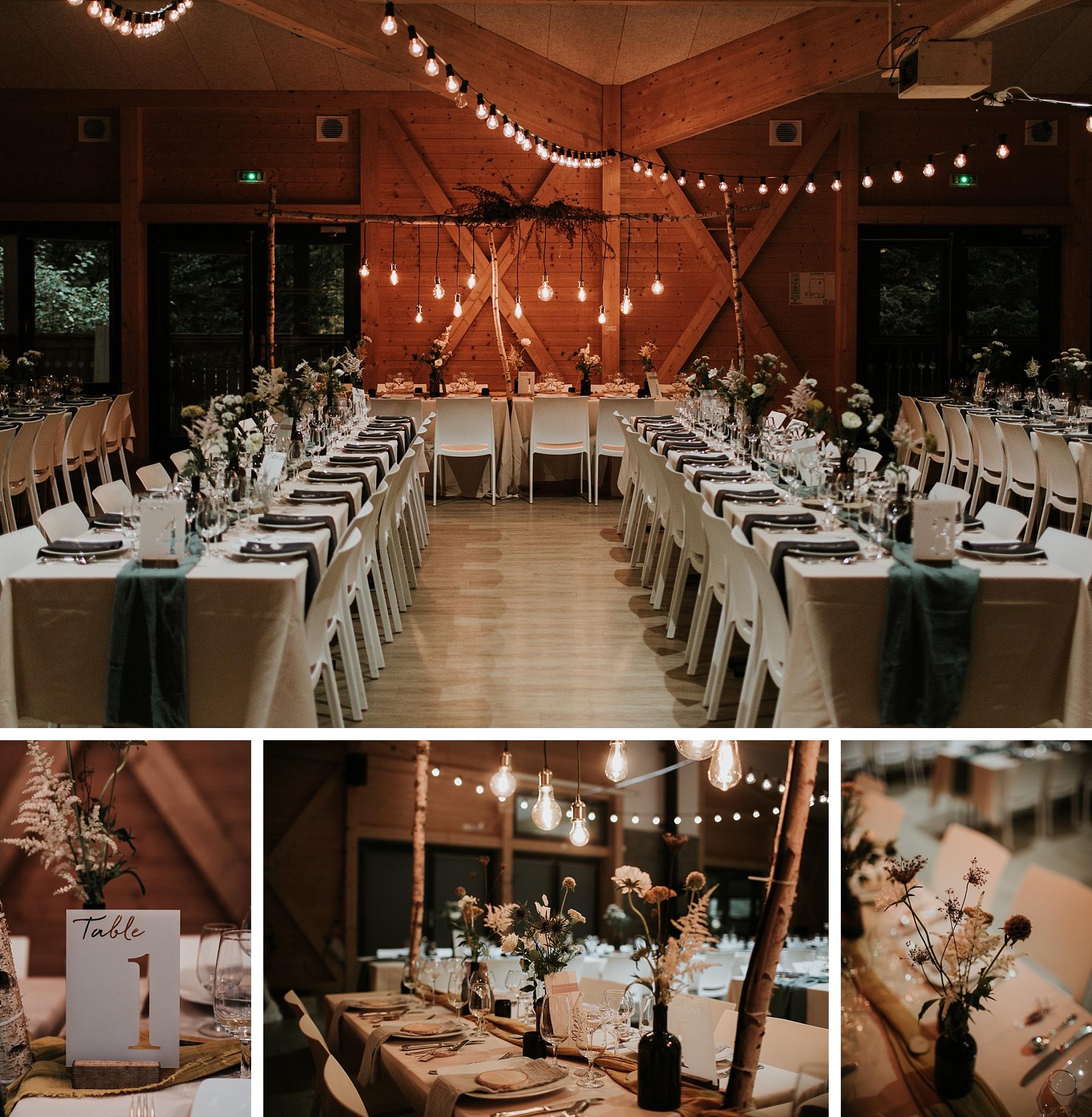 mariage automnal domaine du hirtz salle décoration