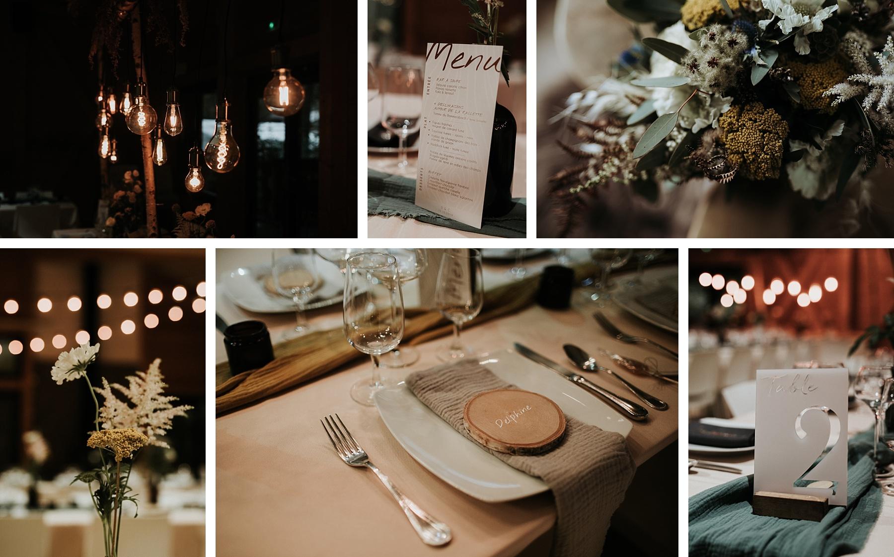 mariage automnal domaine du hirtz décoration table