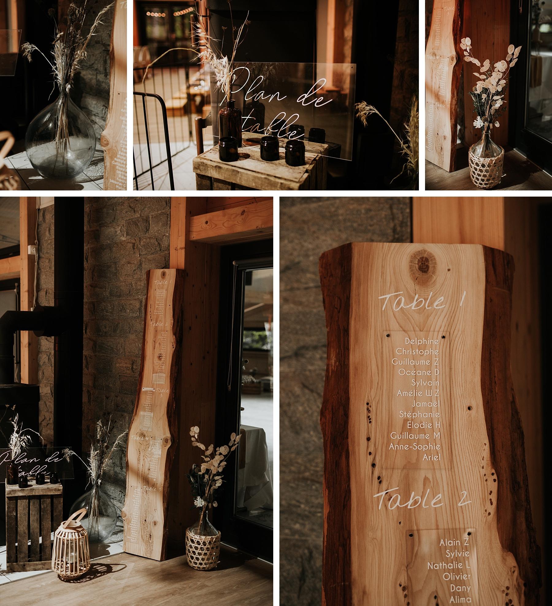 mariage automnal domaine du hirtz plan de table