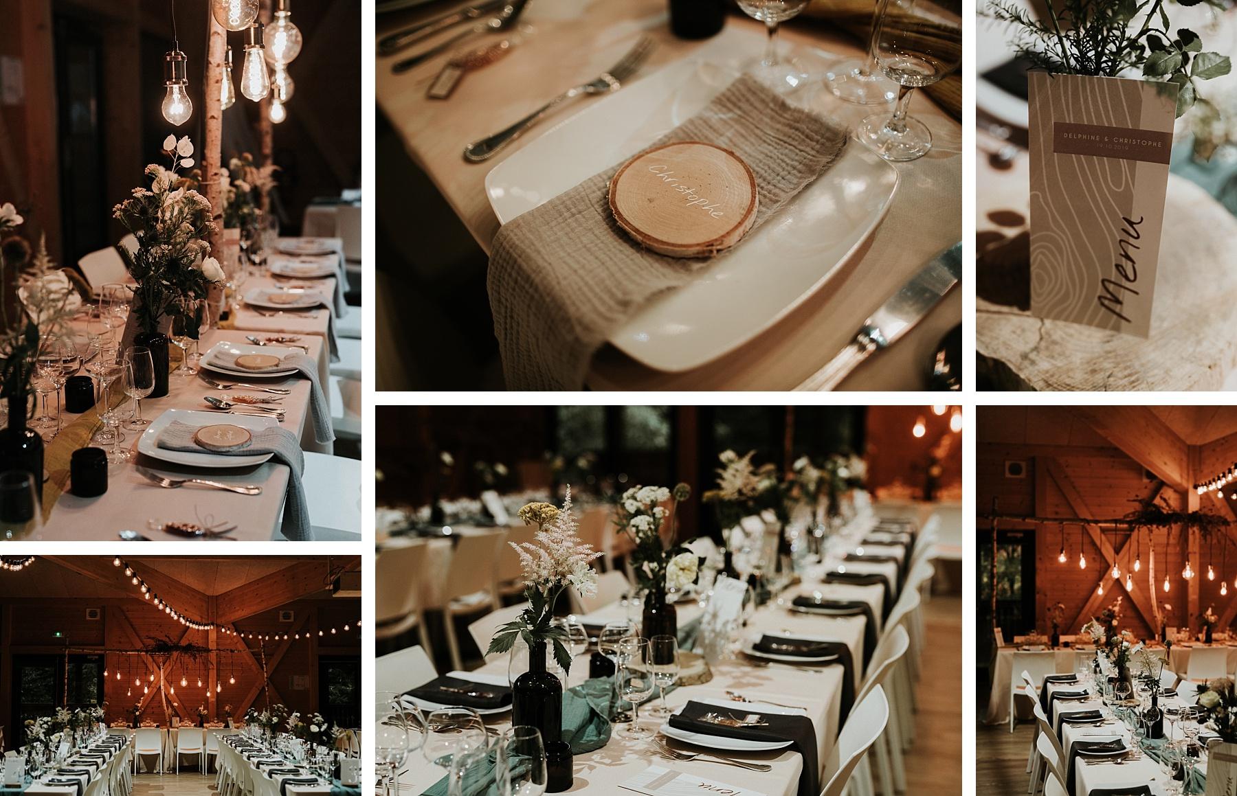 mariage automnal domaine du hirtz déco de table