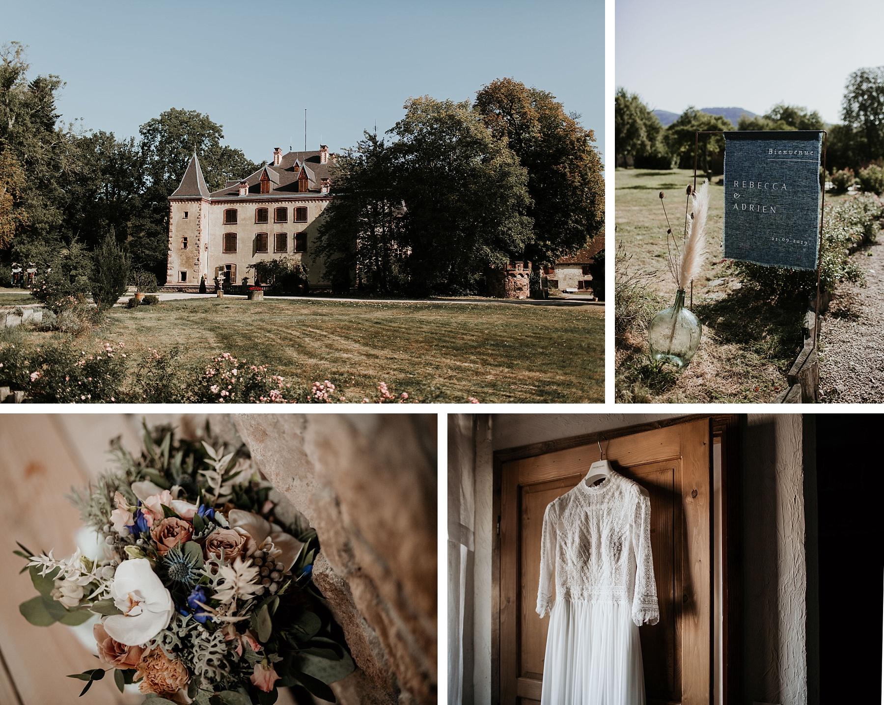mariage romatinque au château de Thanvillé
