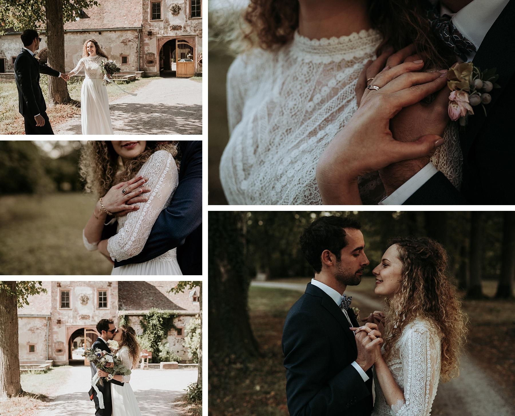 mariés romantiques château de Thanvillé