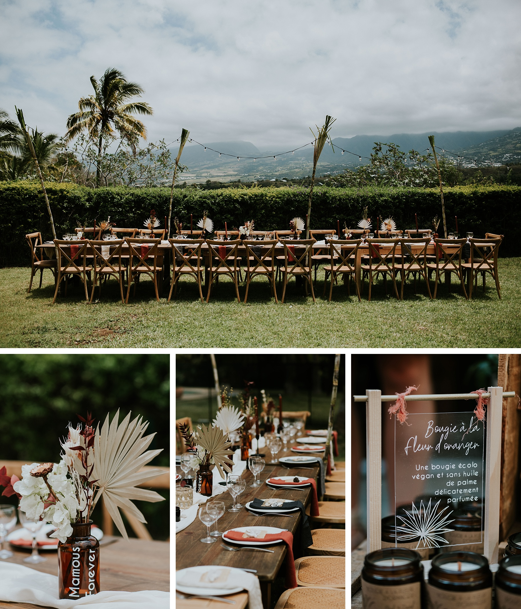 mariage plage la réunion table décoration