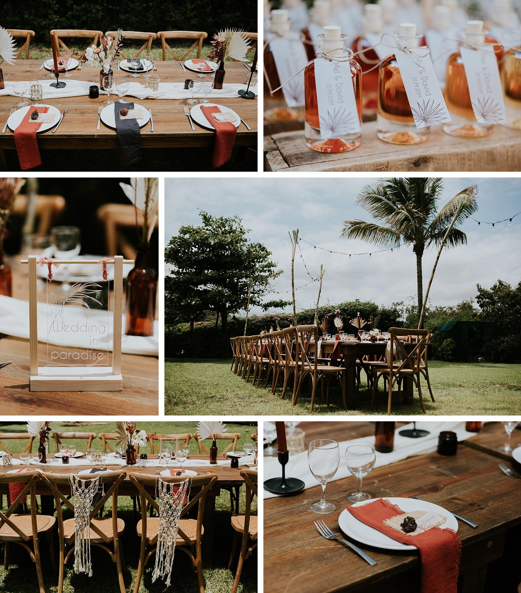 mariage plage la réunion cadeaux invités rhum