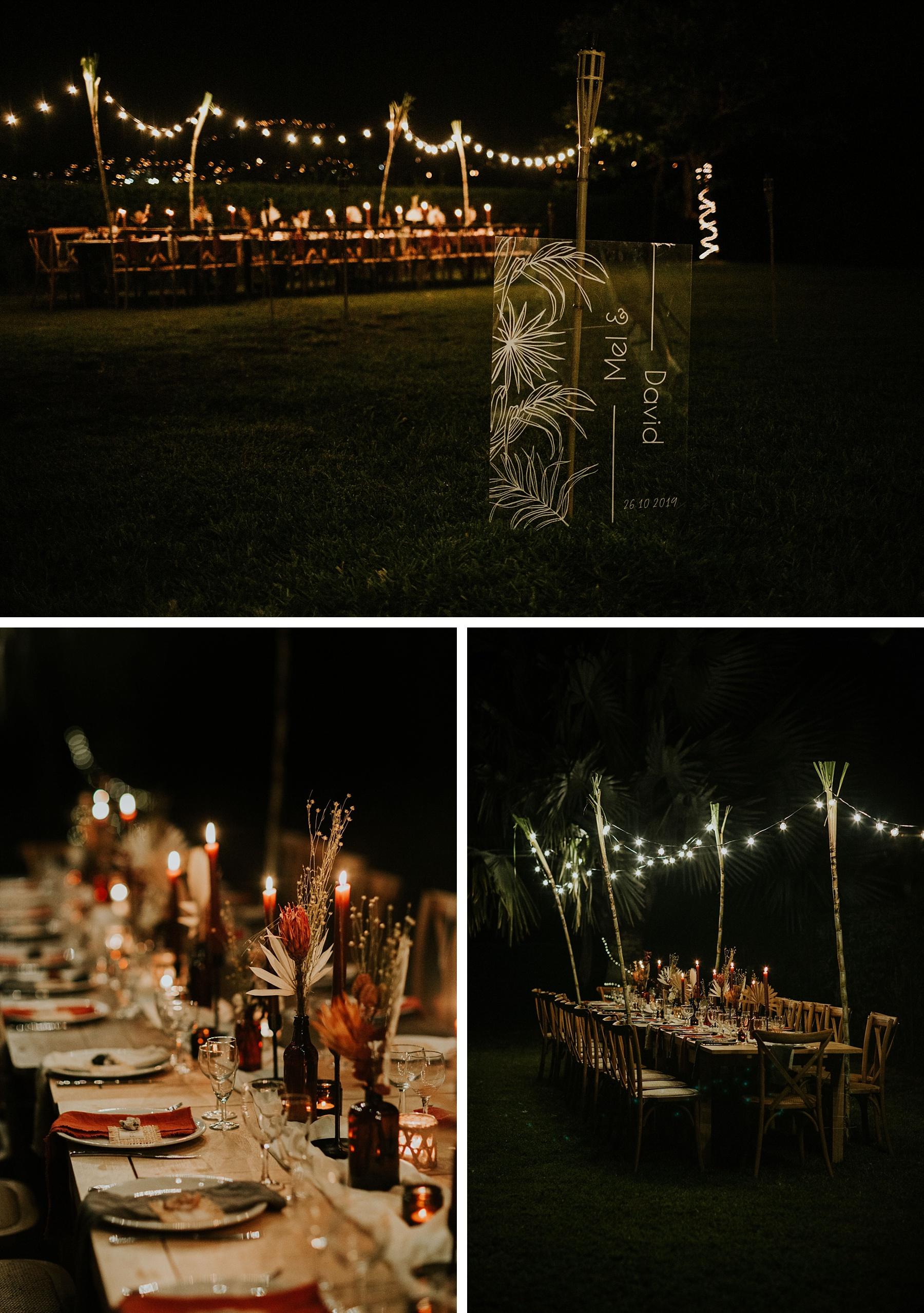 mariage plage la réunion décoration soir