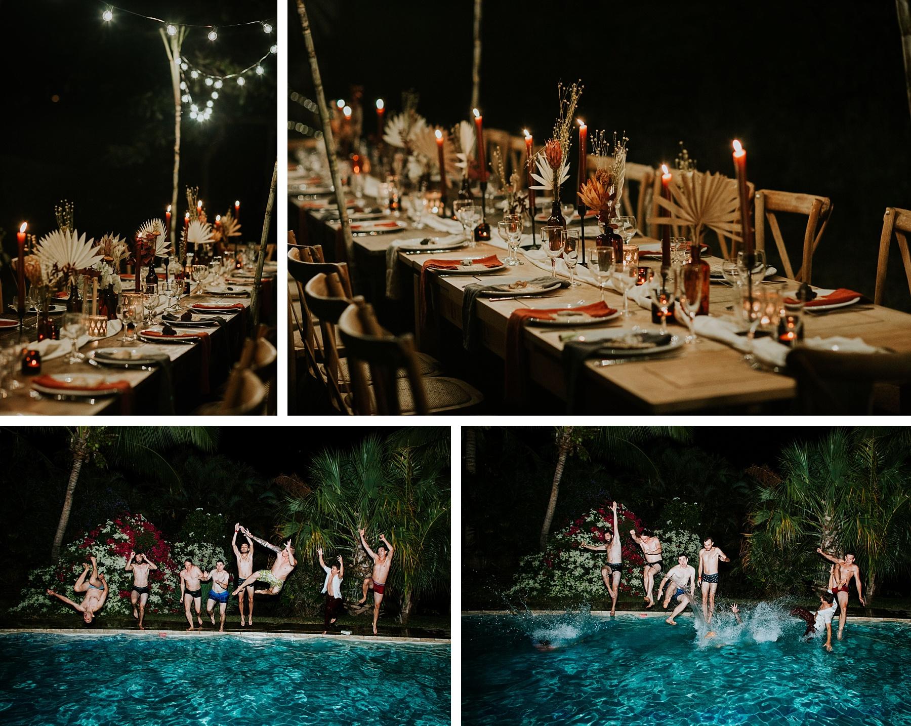 mariage plage la réunion décoration soir piscine