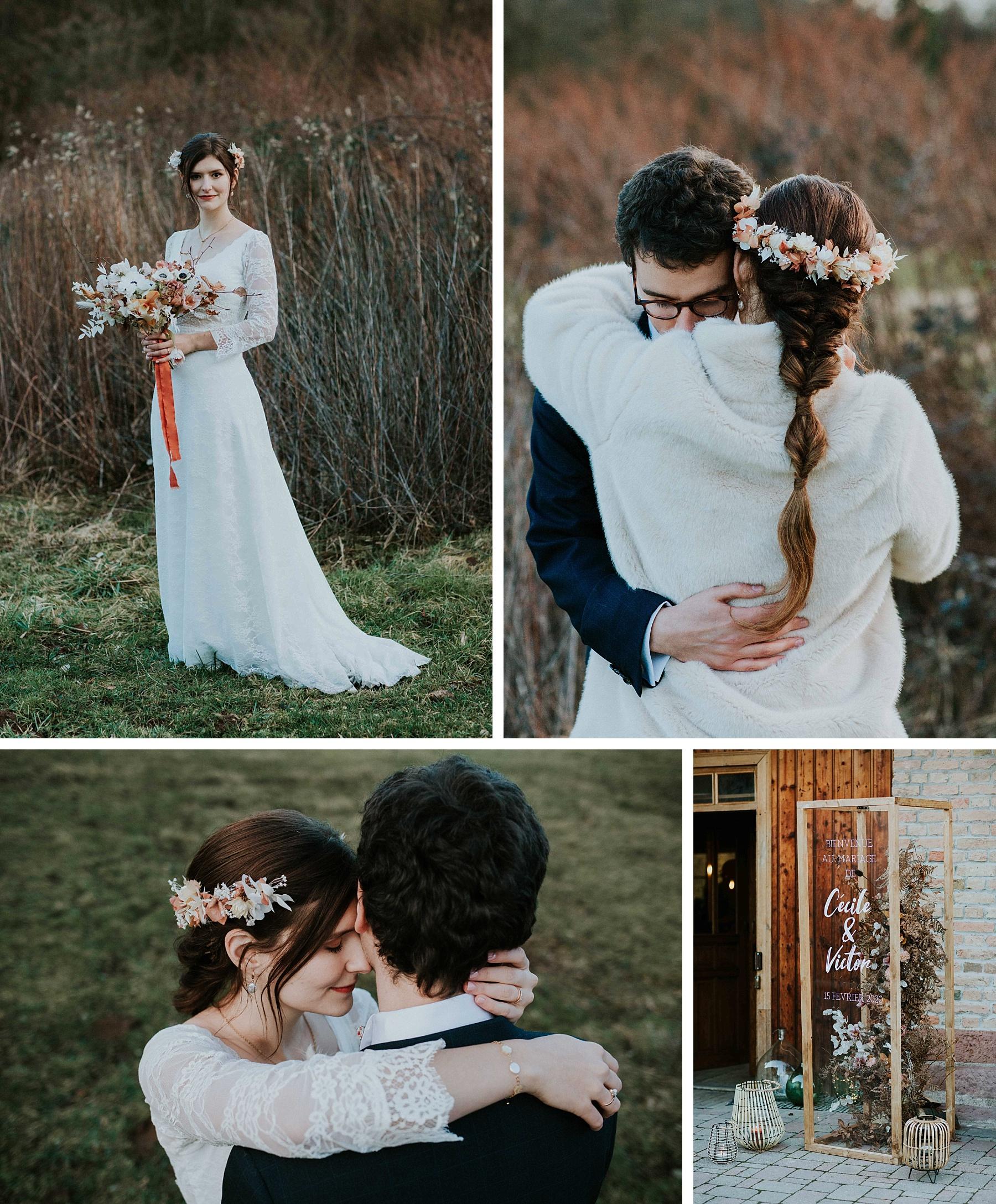 mariés hiver drille alsace