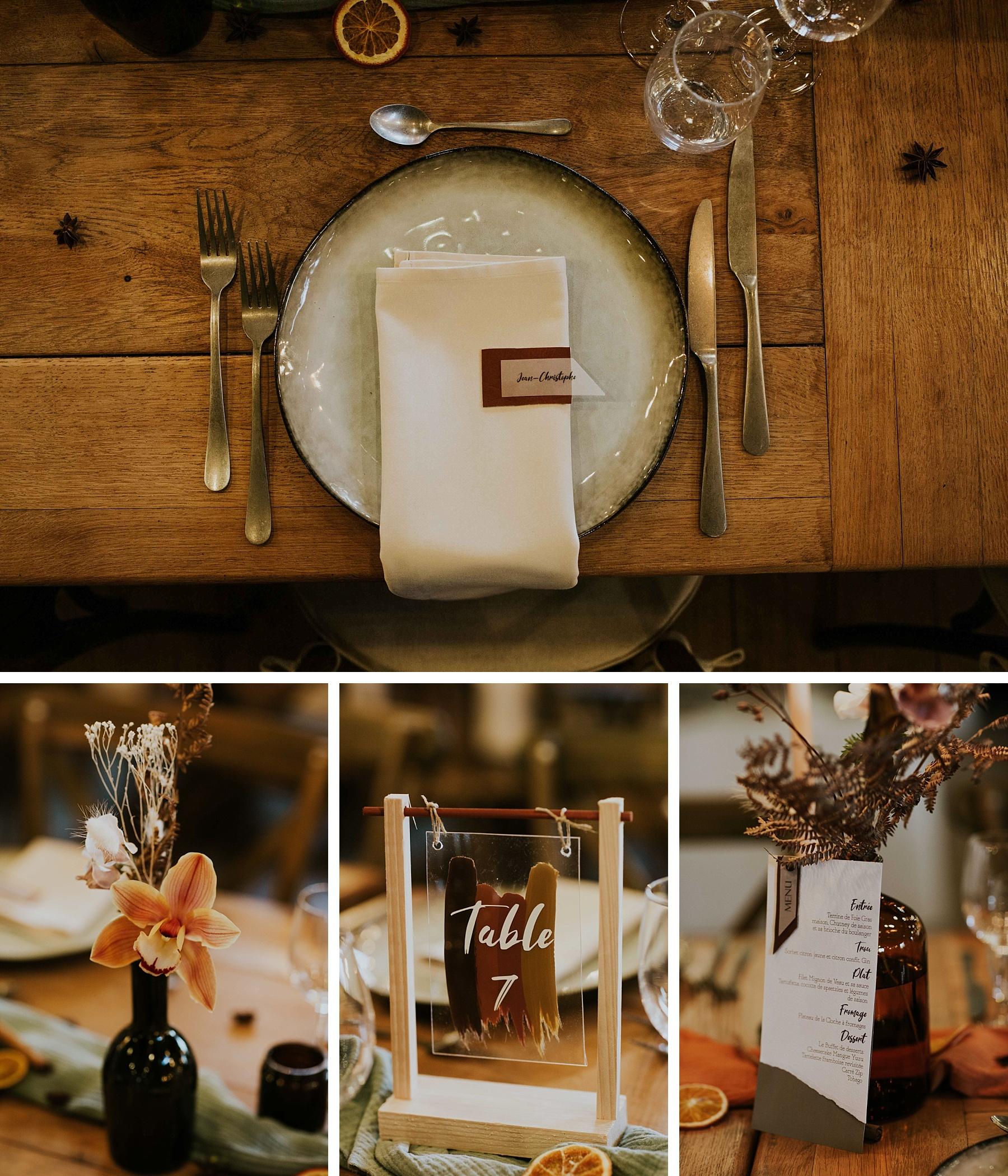 mariage hiver drille alsace déco de table