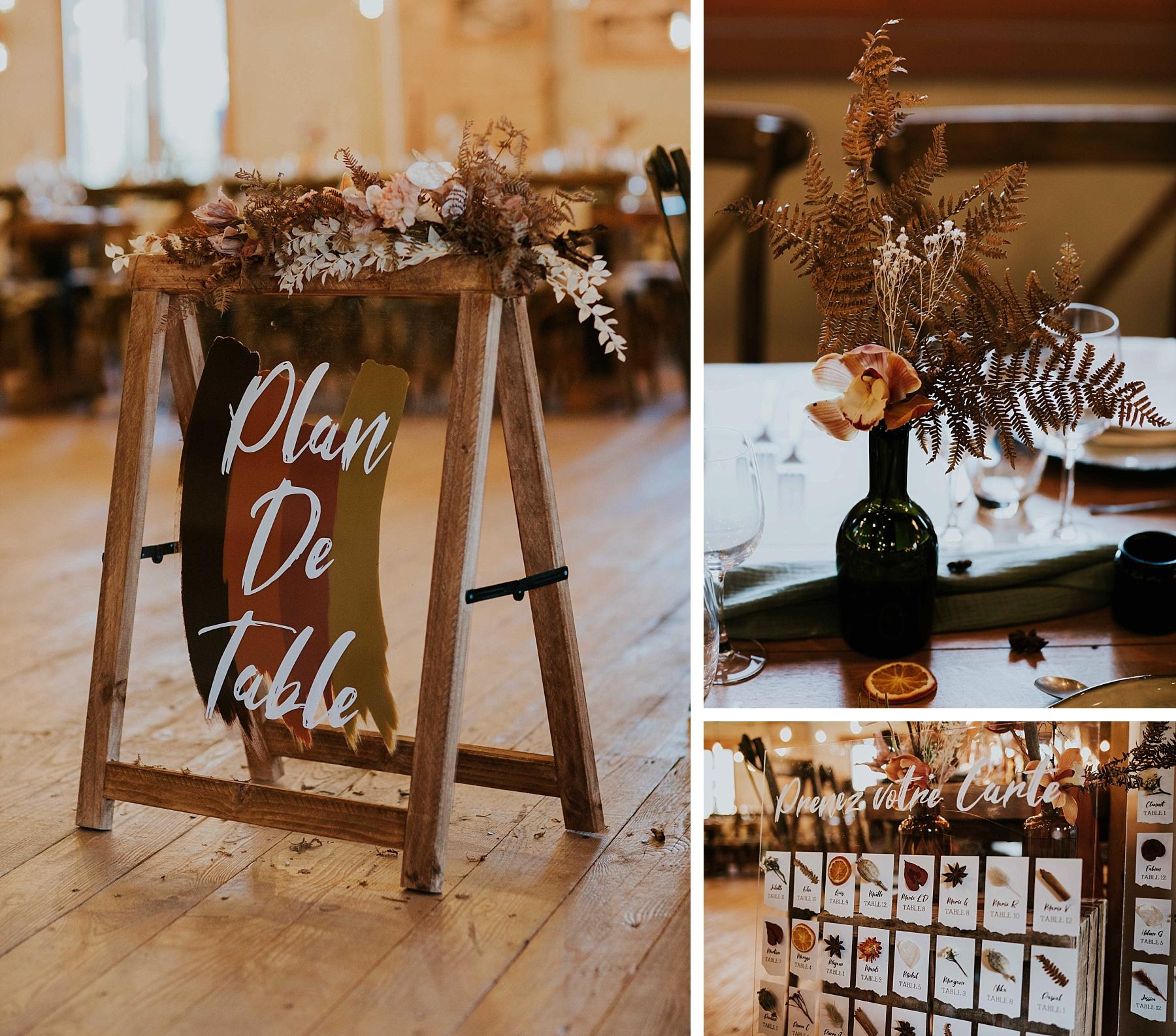 mariage hiver drille alsace plan de table