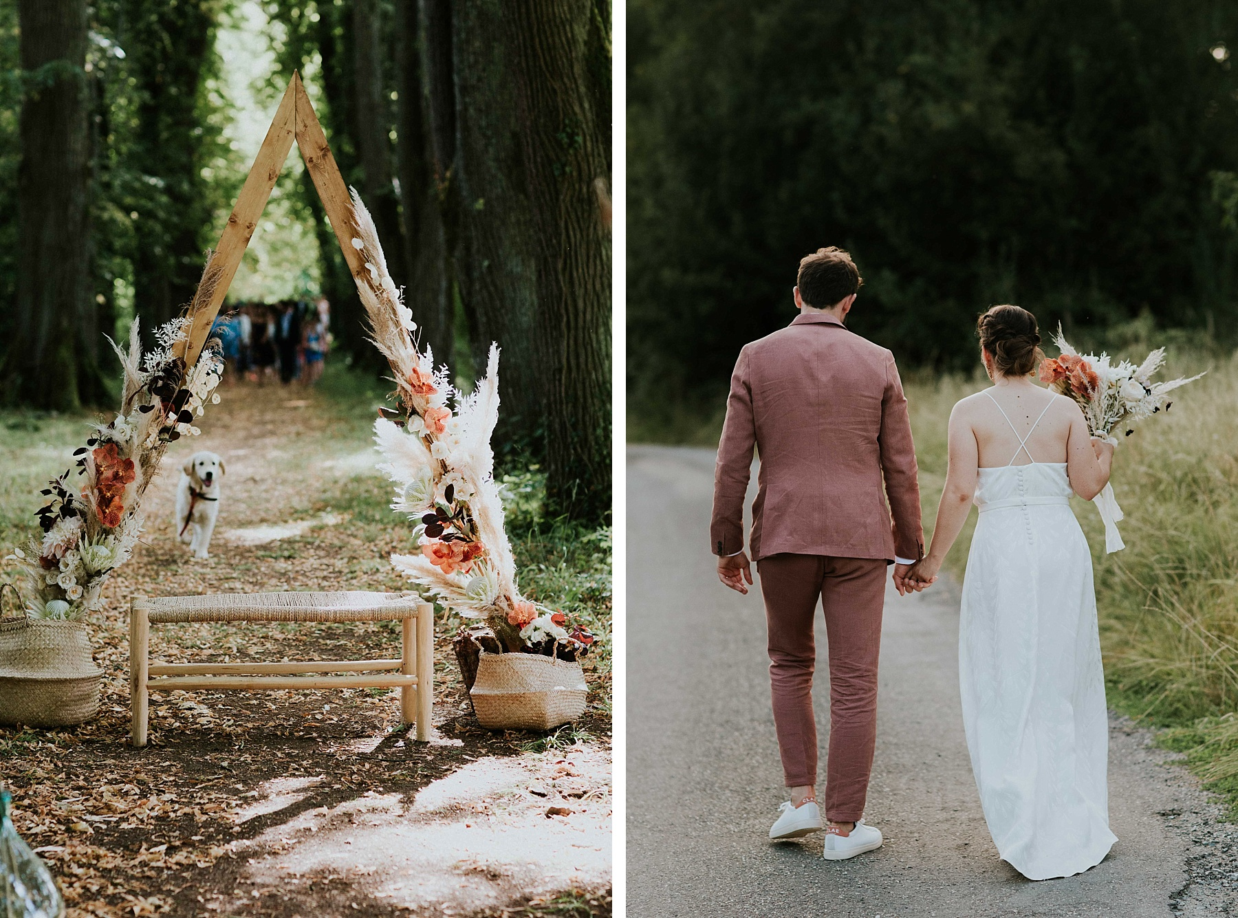 cérémonie mariage eco responsable fleurs séchées