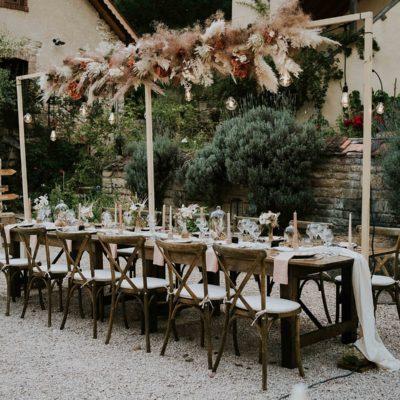 déco mariage eco responsable fleurs séchées Morimont