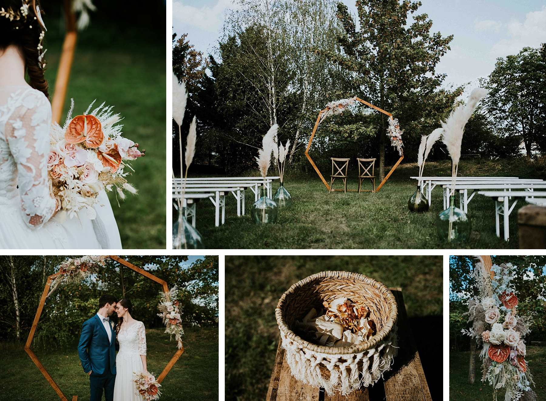 cérémonie laïque mariage moderne et graphique grange alsace