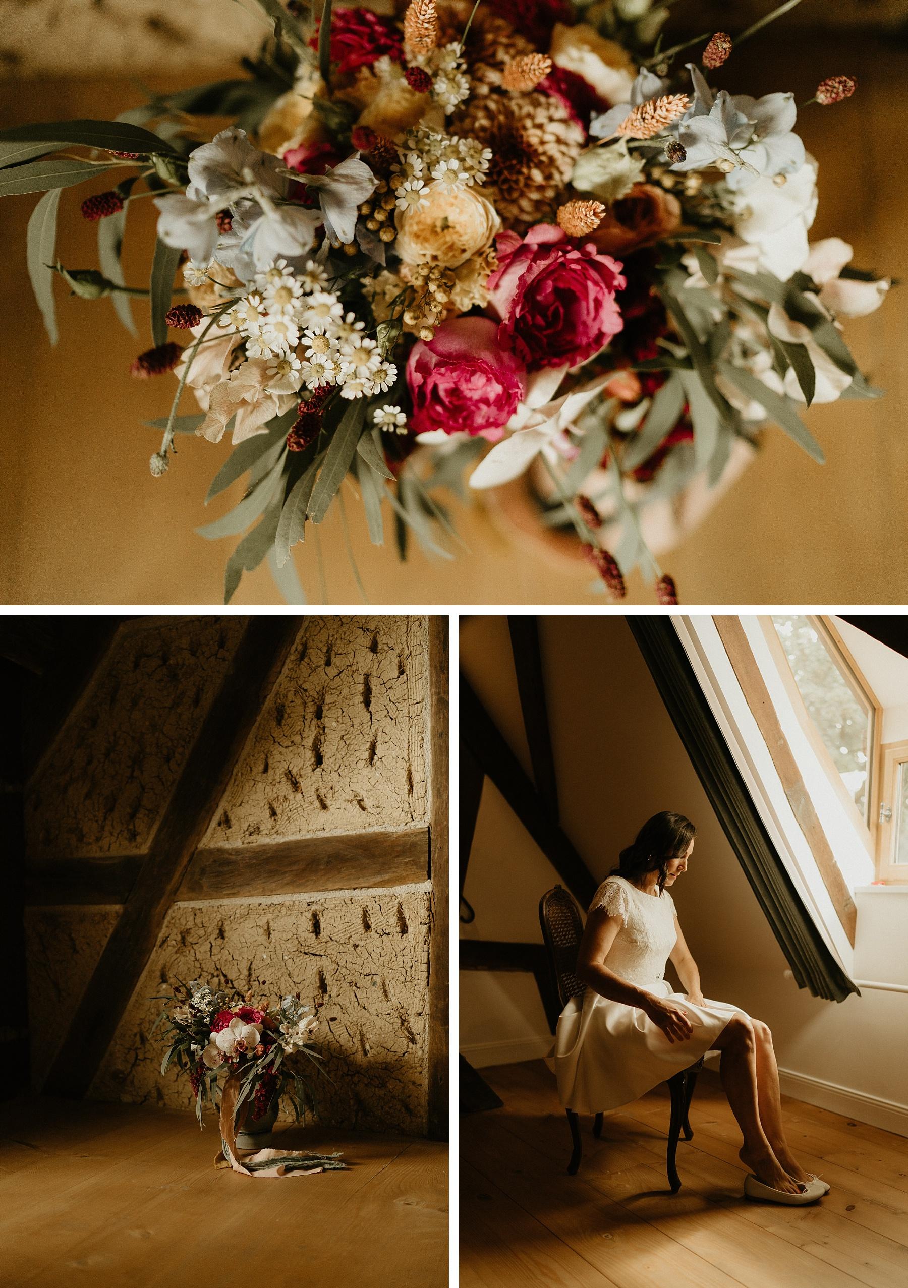 bouquet mariée mariage coloré en Alsace