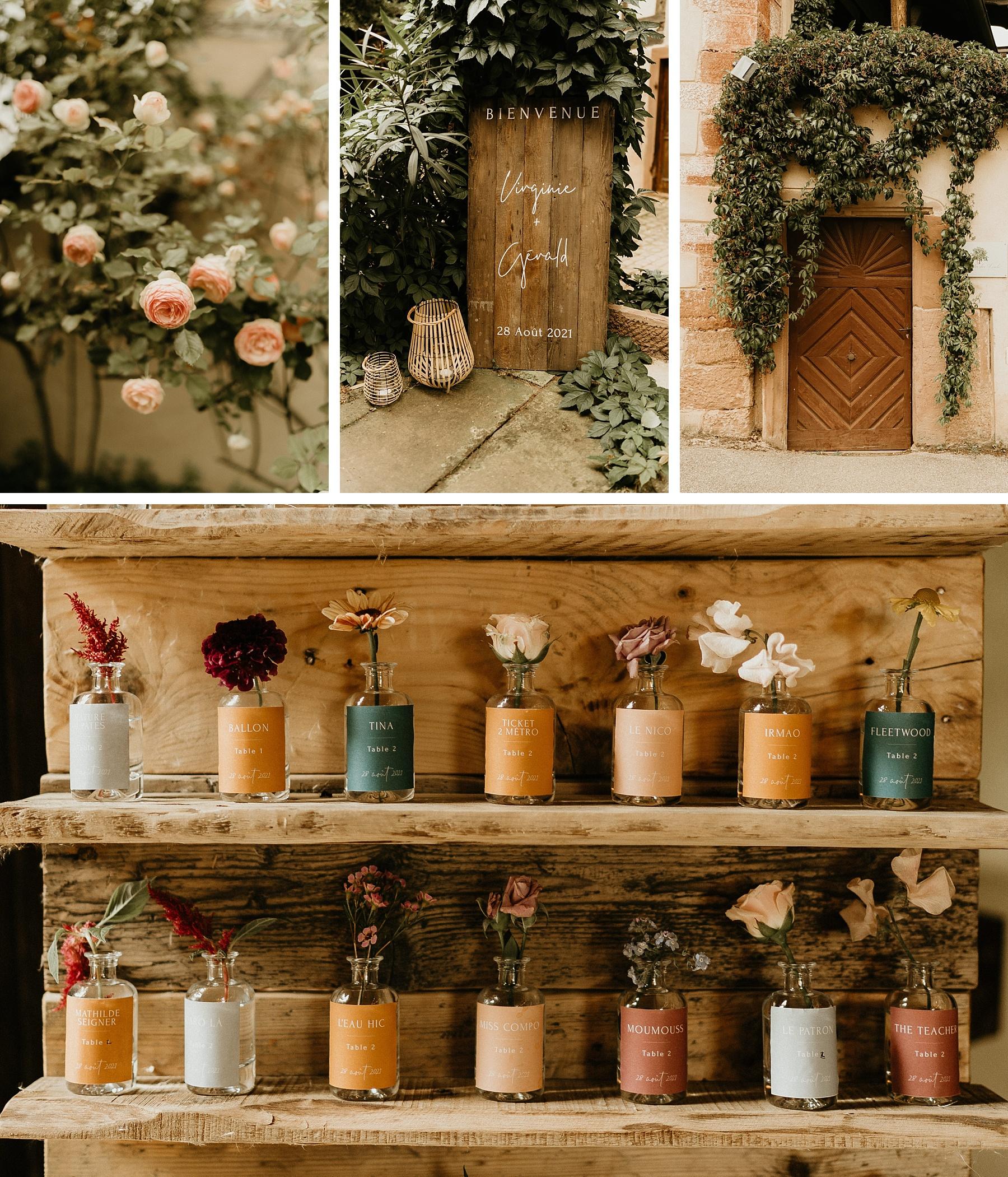 panneau bienvenue mariage coloré en Alsace