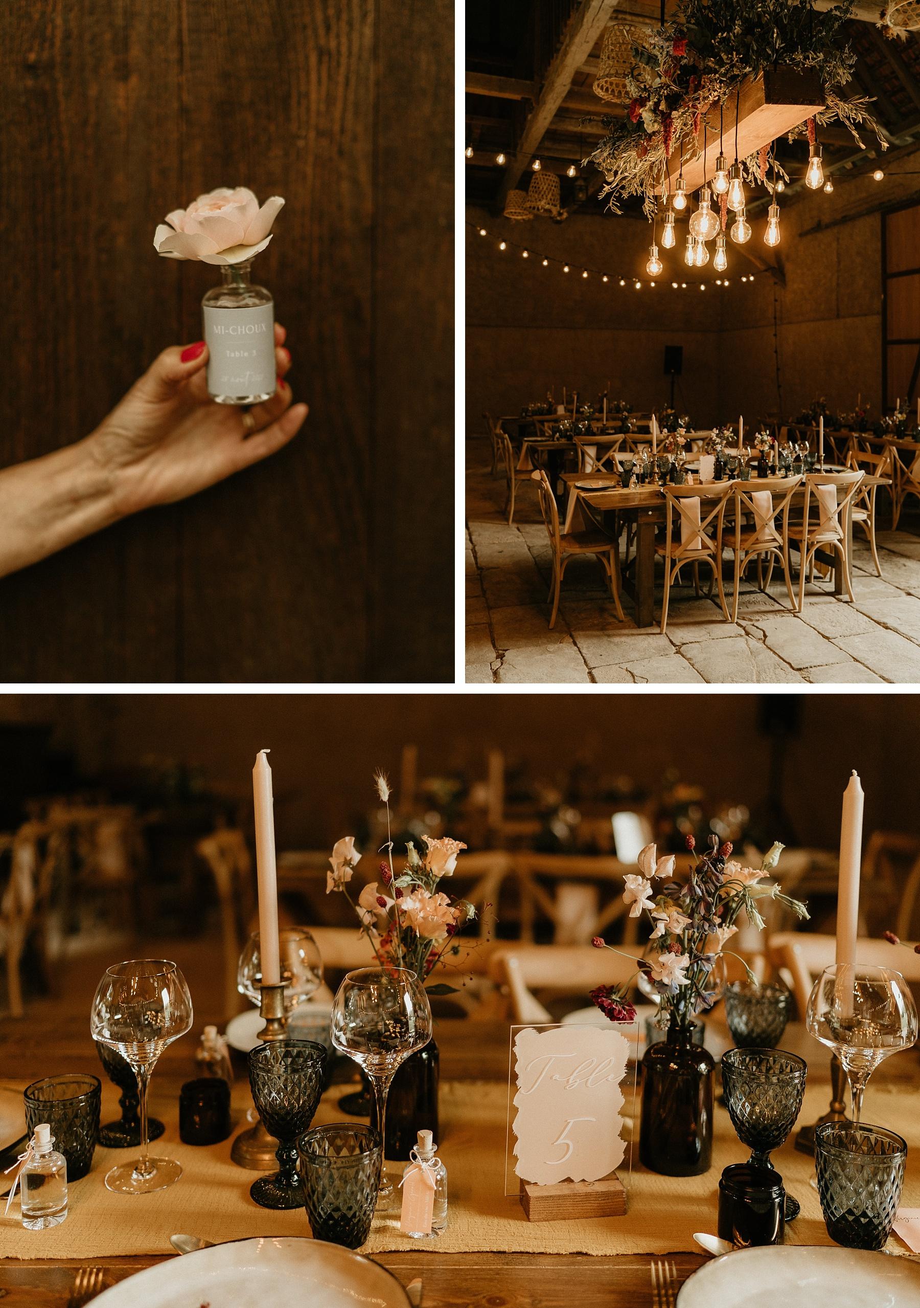 table mariage coloré en Alsace