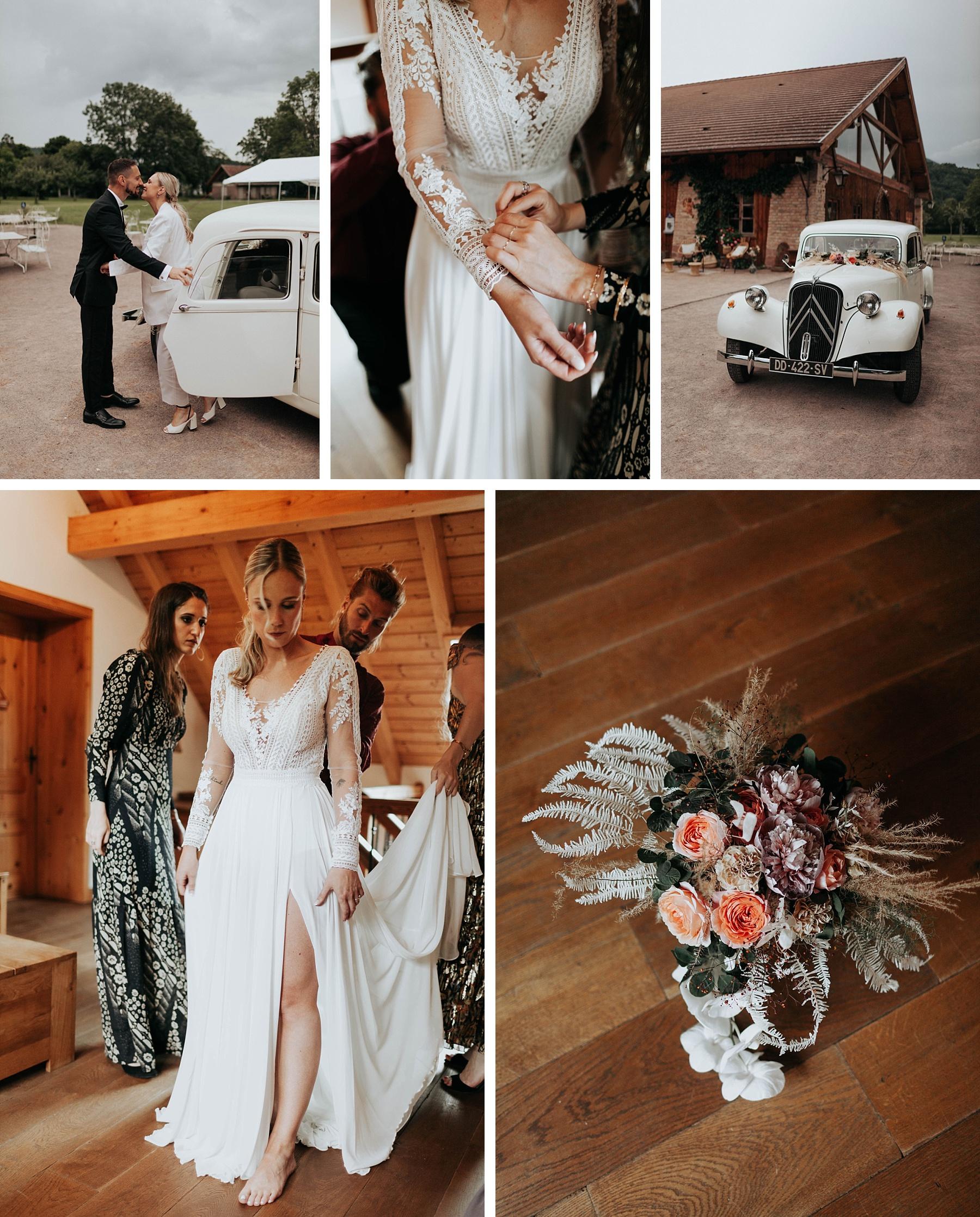 mariée mariage ocre et or la drille