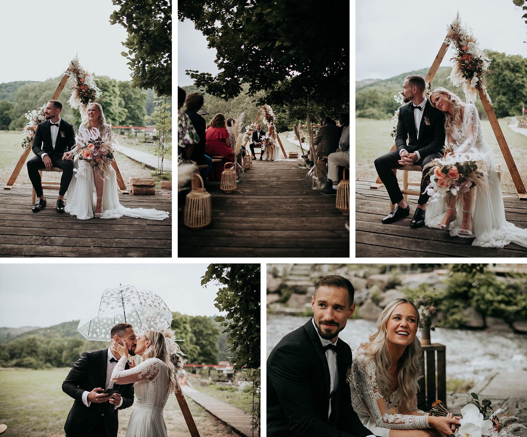 cérémonie laïque mariage ocre et or la drille