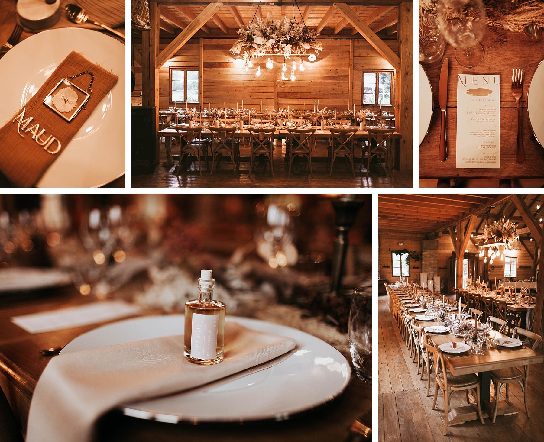 menu cadeau mariage ocre et or la drille