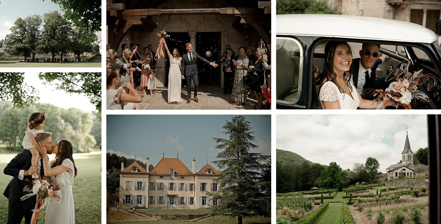 mariage rose chateau de Barbirey