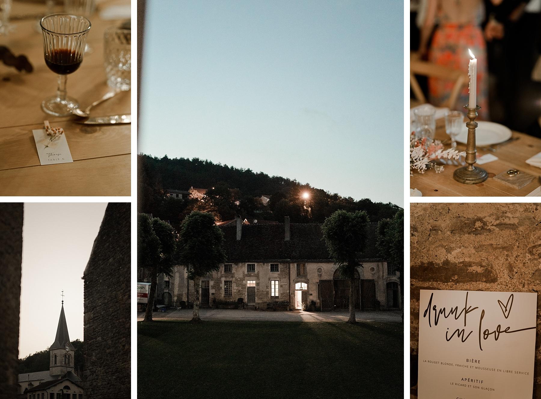 soirée mariage rose chateau de Barbirey