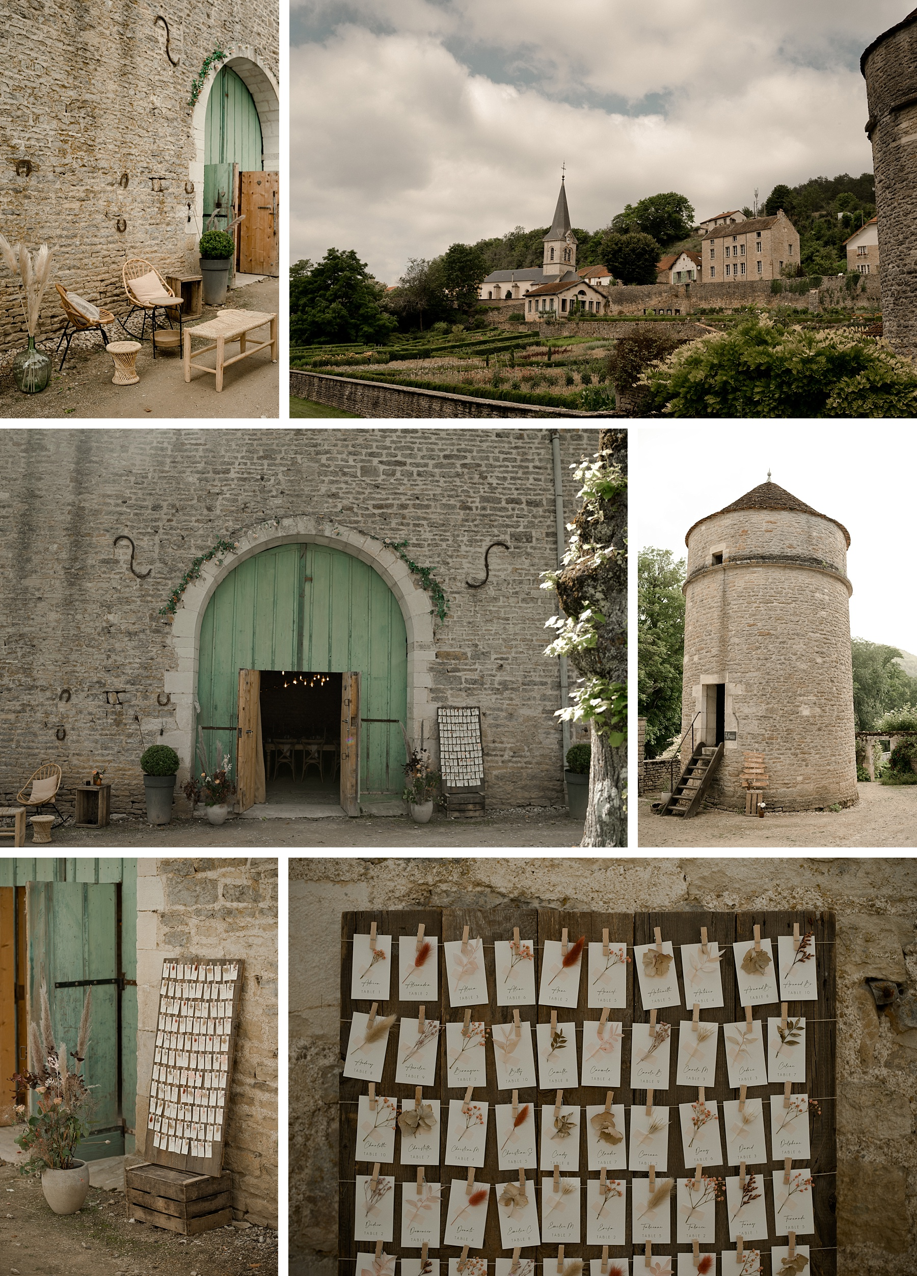plan de table mariage rose chateau de Barbirey