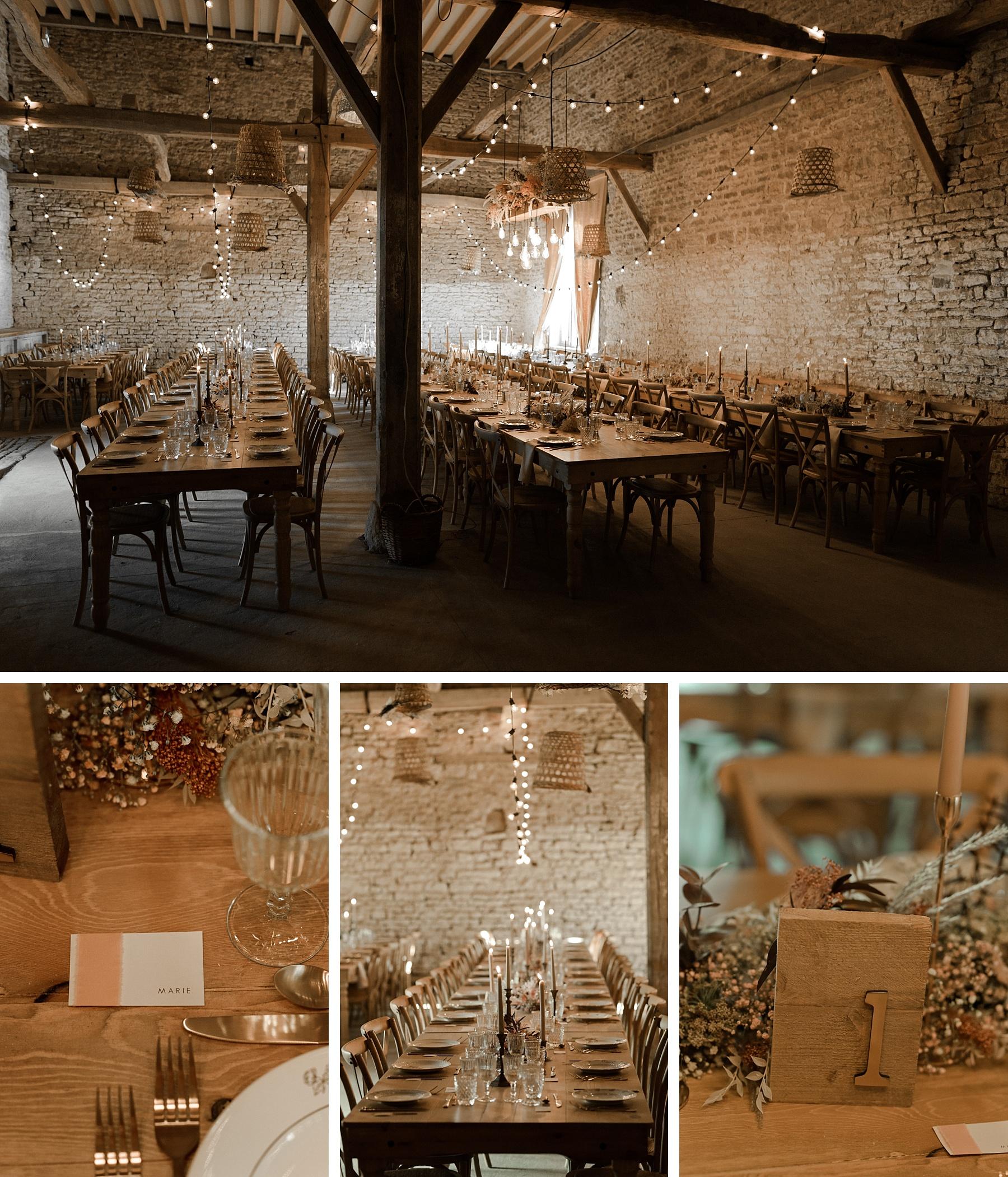 grange mariage rose chateau de Barbirey